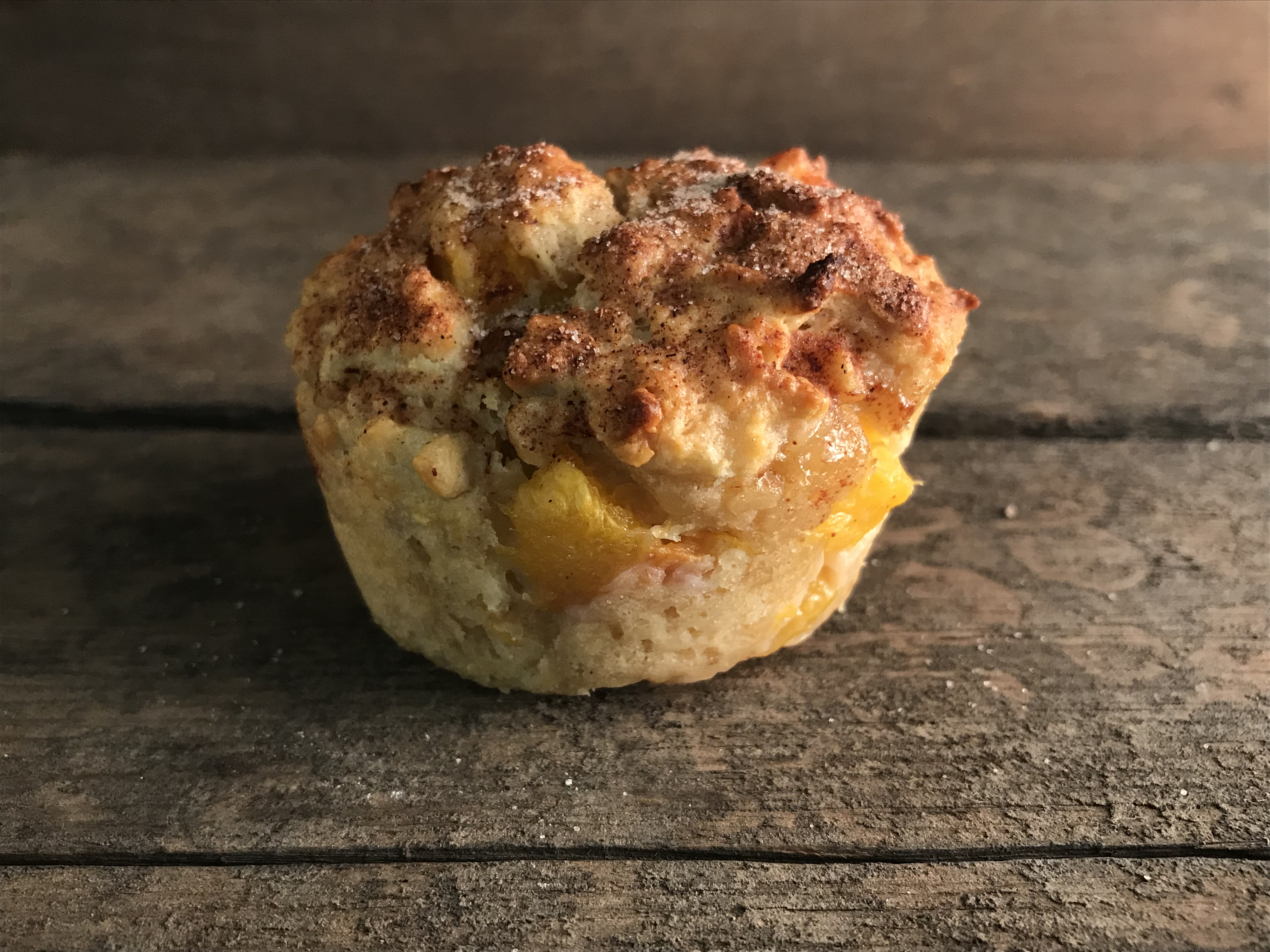 Peach oat muffins recipe, as seen on Indy Style morning show